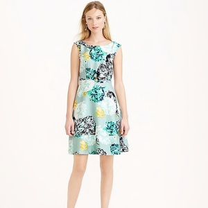 NWT J. Crew Aquatic Floral Silk Dress